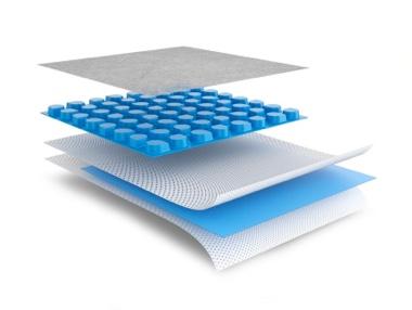 Membrana impermeabilizzate e drenante per pavimentazioni